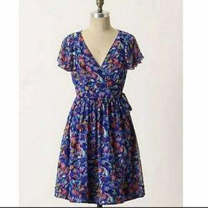 Anthro Moulinette Soeurs Blooming Sapphire Dress